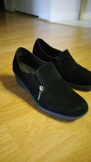 Solesensibility Black Suede Comfortably Worn Side Zippers Black/Suede Shoe Boots