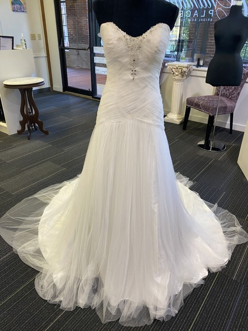 Item - Ivory Organza Heather Destination Wedding Dress Size 10 (M)