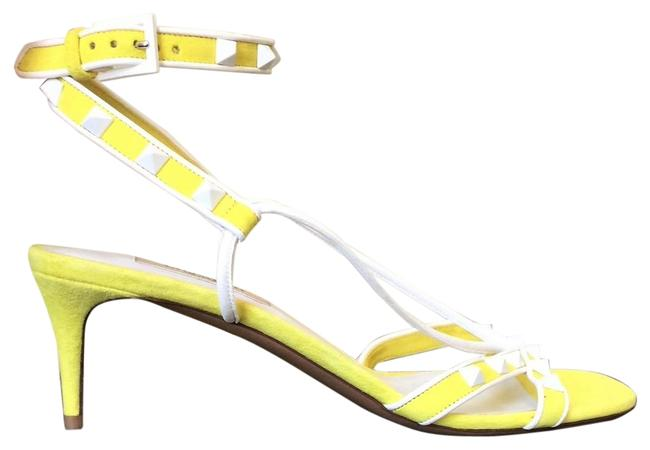 Item - Yellow Free Rockstud Suede Kitten Heel Sandals Size EU 38 (Approx. US 8) Regular (M, B)