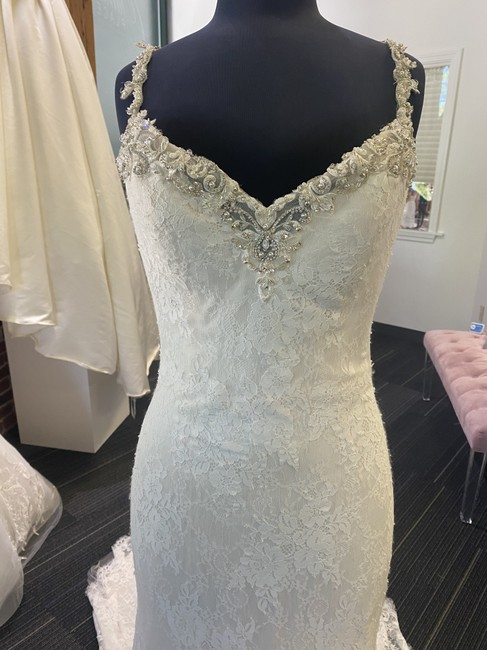 Item - Ivory Over Champagne Lace Helena Sexy Wedding Dress Size 12 (L)