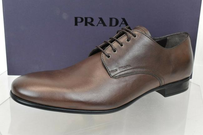 Item - Brown 2e2748 Burnished Leather Logo Lace Up Derby Oxfords 8.5 Us 9.5 Shoes
