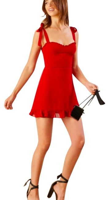Item - Red Christine Short Night Out Dress Size 8 (M)