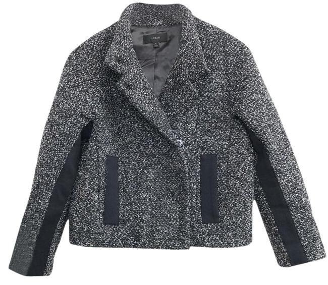 Item - Grey Cropped Marled Boucle Wool-blend Jacket Size 4 (S)
