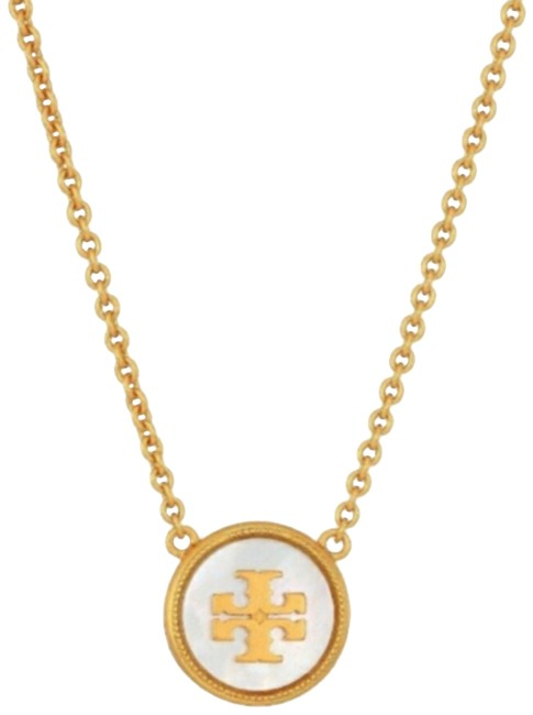 Item - Mother Of Pearl Semiprecious Pendant Logo Necklace
