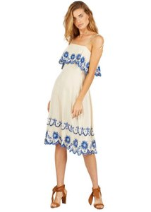 Cleobella short dress Cream/Blue on Tradesy