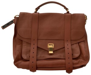 Proenza Schouler Satchel in Saddle Brown with gold hardware