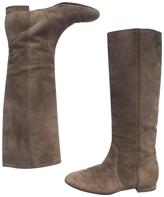 Valentino Tan Suede Flat Knee Boots/Booties Size EU 36 (Approx. US 6) Regular (M, B) Valentino Tan Suede Flat Knee Boots/Booties Size EU 36 (Approx. US 6) Regular (M, B) Image 1