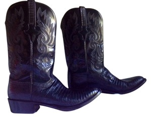 Lucchese Black Lizard Boots