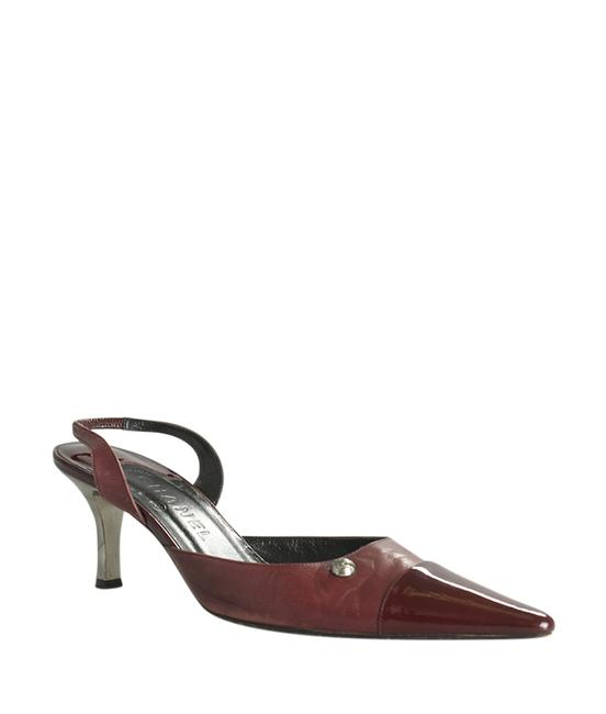 Item - Burgundy Leather Slingback Heelsx (186360) Sandals Size US 9 Regular (M, B)