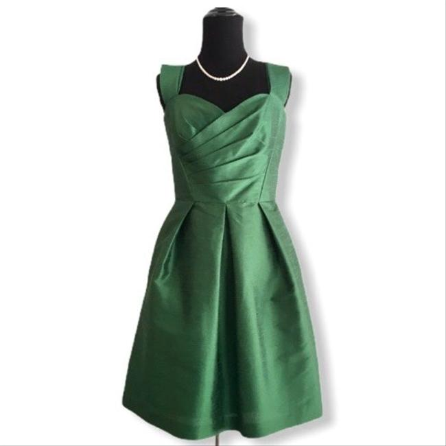 Item - Green Fit and Flare Short Cocktail Dress Size 6 (S)