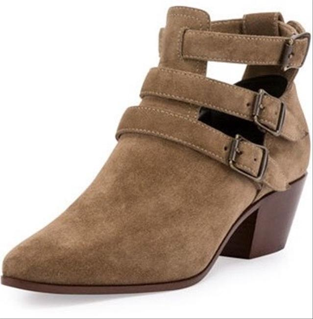 Item - Tan Suede Rock Triple Strap Sigaro Boots/Booties Size EU 36.5 (Approx. US 6.5) Regular (M, B)