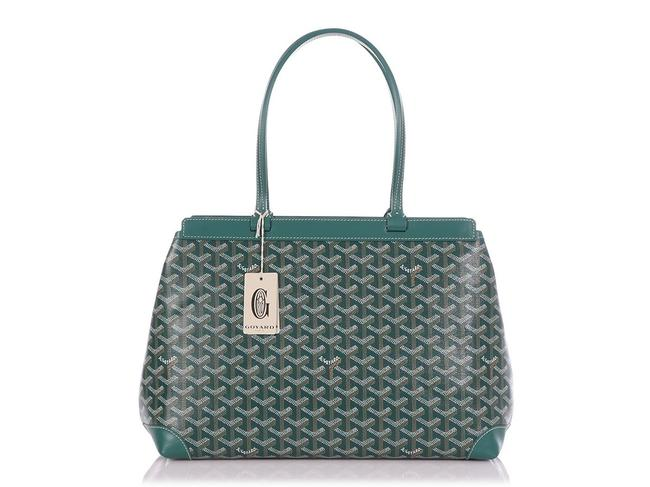 Item - Classic Bellechasse Biaude Pm Convertible Monogram Top-handle Green Leather/Canvas Tote