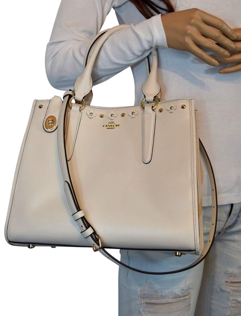 Item - Crosby Convertible White Leather Satchel
