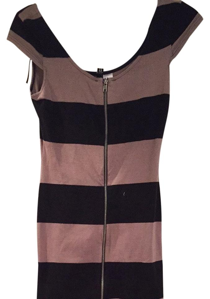75657551514 Divided by H M Black and Tan Night Out Dress Size 6 (S) - Tradesy
