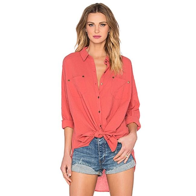 Item - Smokey Rose Love Her Madly Button-down Top Size 8 (M)