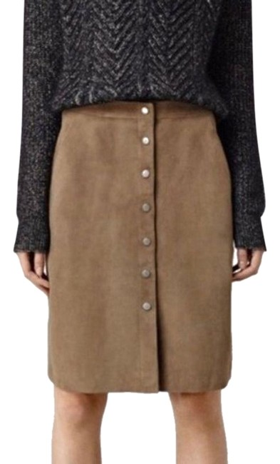 Item - Taupe Emme Suede Skirt Size 2 (XS, 26)