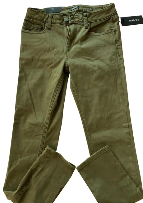 Item - Olive Green Or Army Dark Rinse 27 Skinny Jeans Size 4 (S, 27)