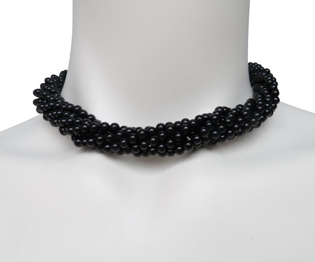 Tiffany & Co. Silver -onyx 7 Strands Torsade Necklace Tiffany & Co. Silver -onyx 7 Strands Torsade Necklace Image 1