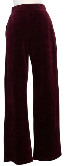 Item - Cranberry Red Cotton Blend Velour Pull-on 3x Pants Size 26 (Plus 3x)