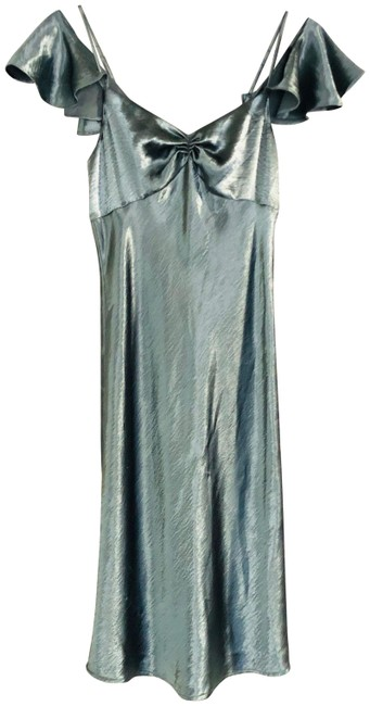 Item - Teal Wright Midi Mid-length Formal Dress Size 4 (S)