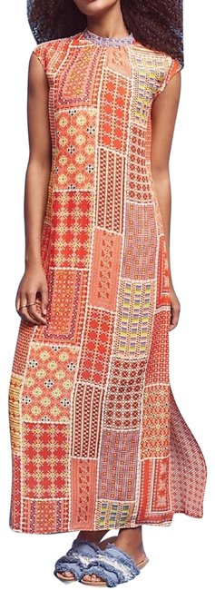 Item - Orange Tanvi Kedia Patchworked Sol Long Casual Maxi Dress Size 6 (S)