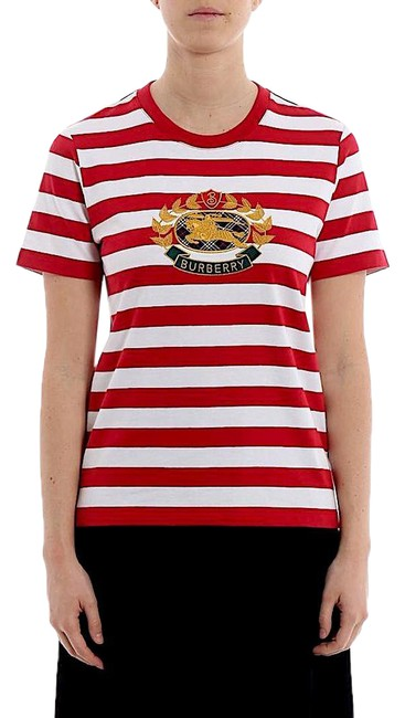 Item - Red/White New with Tag Bulkley Stripe Print T-shirt Tee Shirt Size Petite 4 (S)