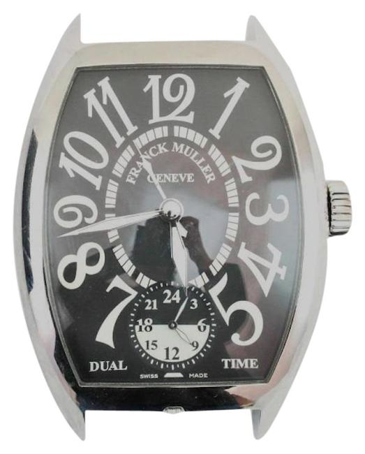 Item - Silver Large Table Travel Alarm Clock Two Time Zone Watch