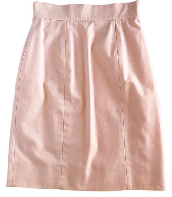 Chanel Pink Vintage Blush Pencil Skirt Size 2 (XS, 26) Chanel Pink Vintage Blush Pencil Skirt Size 2 (XS, 26) Image 1