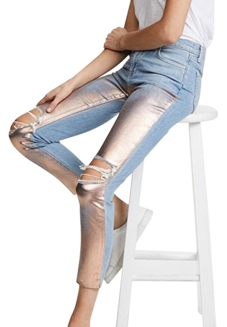 Item - Rose Gold Distressed Marcellle Capri/Cropped Jeans Size 27 (4, S)