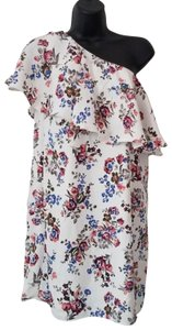 Do & Be short dress White Multi Color Floral on Tradesy