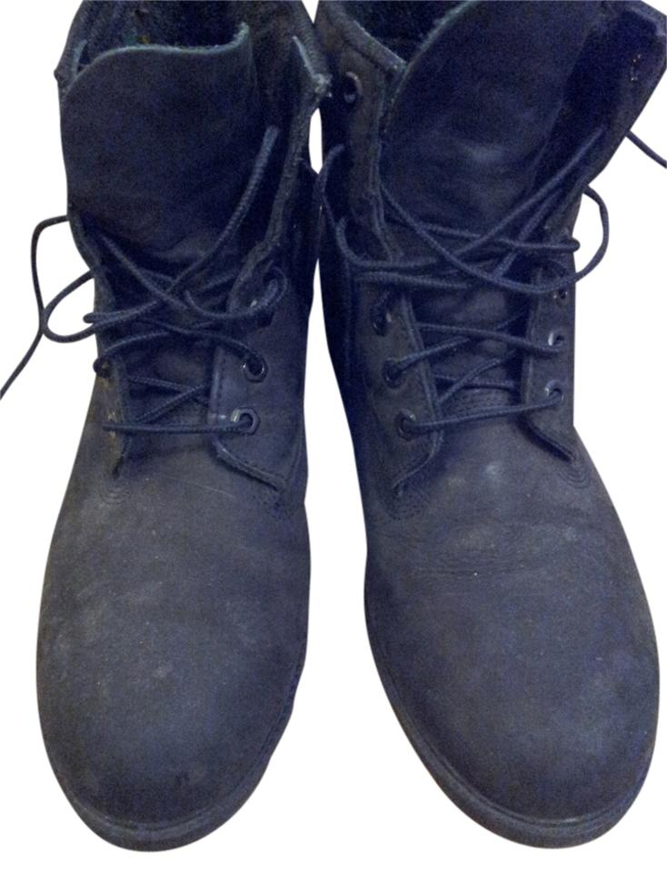 8e724ea5abf6 Timberland Black Waterproof Suede Men s Vintage Boots Booties Size ...