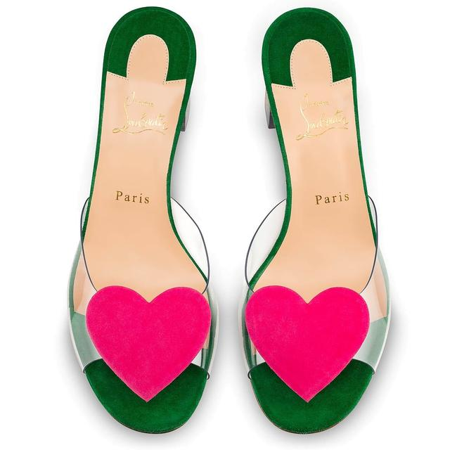 Item - Pink/Green Hallu Corazon Mules/Slides Size EU 41 (Approx. US 11) Regular (M, B)