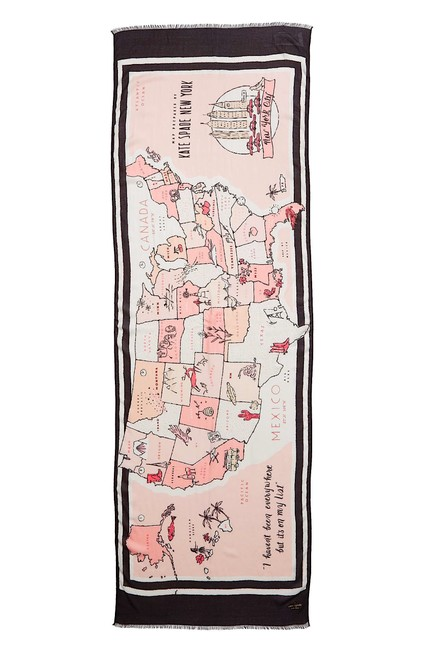 Item - Multi New with Tag Usa Map Oblong Scarf/Wrap Scarf/Wrap
