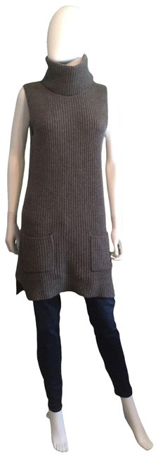 Item - Gray Cashmere Wool Turtleneck Short Casual Dress Size 6 (S)