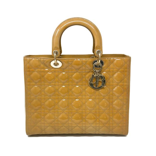 Item - Lady Christian Large Mustard Patent Leather Tote