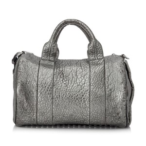 Alexander Wang Res0fawbo001 Vintage Leather Satchel in Silver