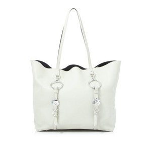 Alexander Wang Res0fawto002 Vintage Leather Tote in White