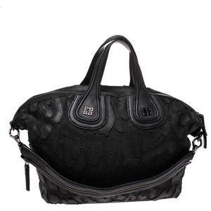 Givenchy Leather Nylon Satchel in Black