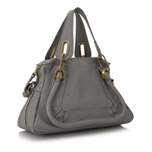 Chloe Res0fclst008 Vintage Leather Satchel in Gray