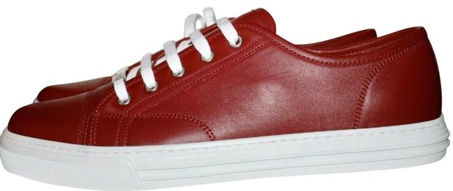 Item - Red Men Lace Up Low Top Nameplate 10 423301 Sneakers Size US 8 Regular (M, B)