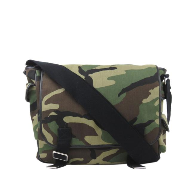 Item - Messenger Camouflage Green Leather Cross Body Bag