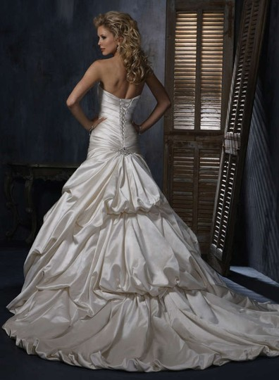 Maggie Sottero Alabaster Kendra Wedding Dress Size 12 (L)