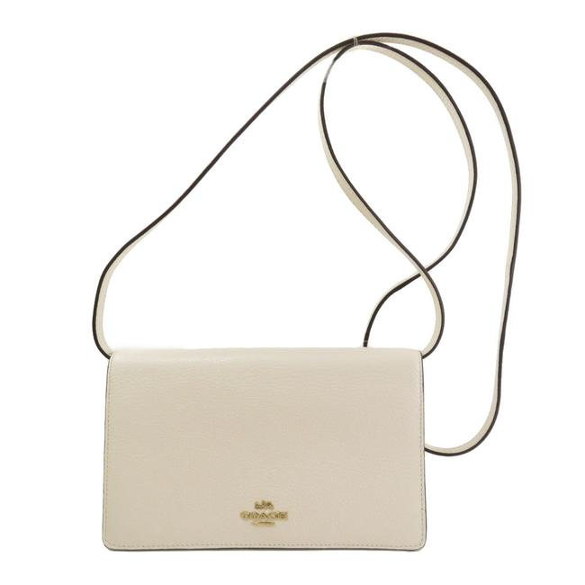 Item - White F30256 Shoulder Long Leather Ladies Wallet