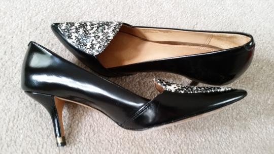 Coach Heels Black and Ivory Pumps