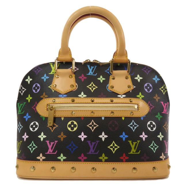Item - Alma M92646 Handbag Canvas Ladies Black / Multi-color Monogram Satchel