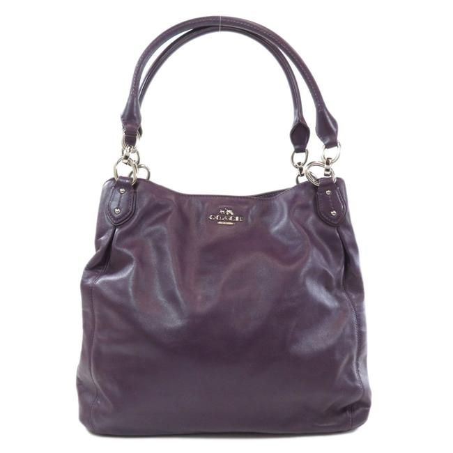 Item - Bag F33393 Logo Women Purple Leather Tote