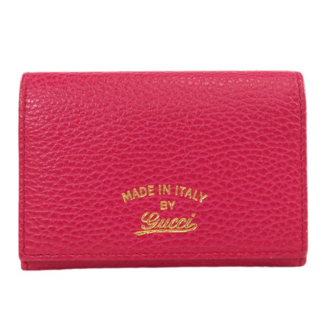 Item - Pink Swing 381045 Business Card Holder Case Leather Ladies Wallet