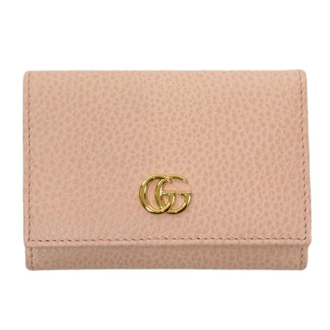 Item - Pink Marmont 474748 Gg Business Card Holder Case Leather Ladies Wallet