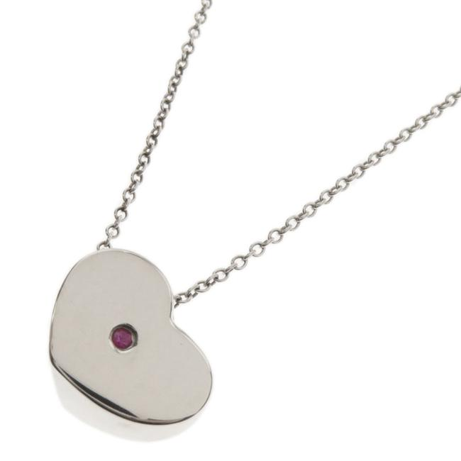 Tiffany Co Pink Heart Silver Ladies Necklace Tradesy