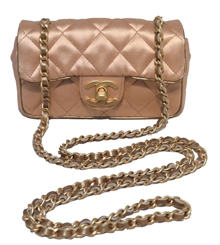 28b389a23209a3 Chanel Classic Flap Evening Quilted Pink Satin Shoulder Bag - Tradesy
